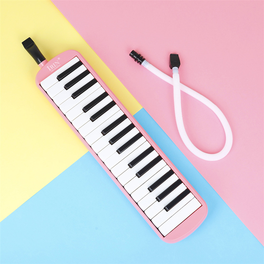 32-key Piano Professional Playing Musical Instrument with Mouthpiece + Long Hose Pink_32 keys