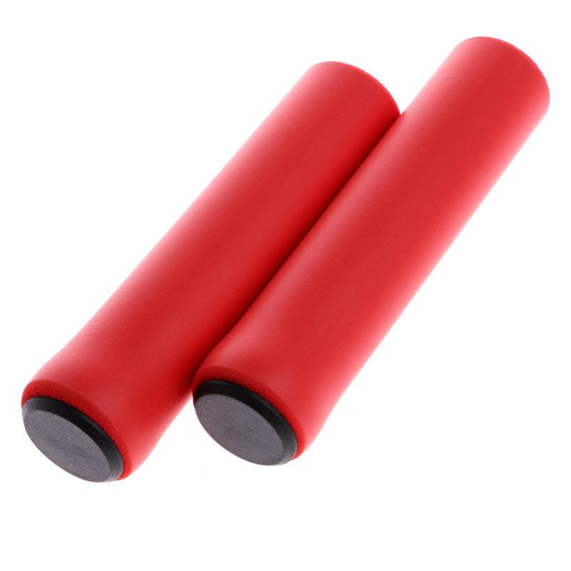 1Pair Ultra Light Anti-Slip Bike Handlebar Grip Cover for Bicycle Mountain Bike BMX Folding Bike Red
