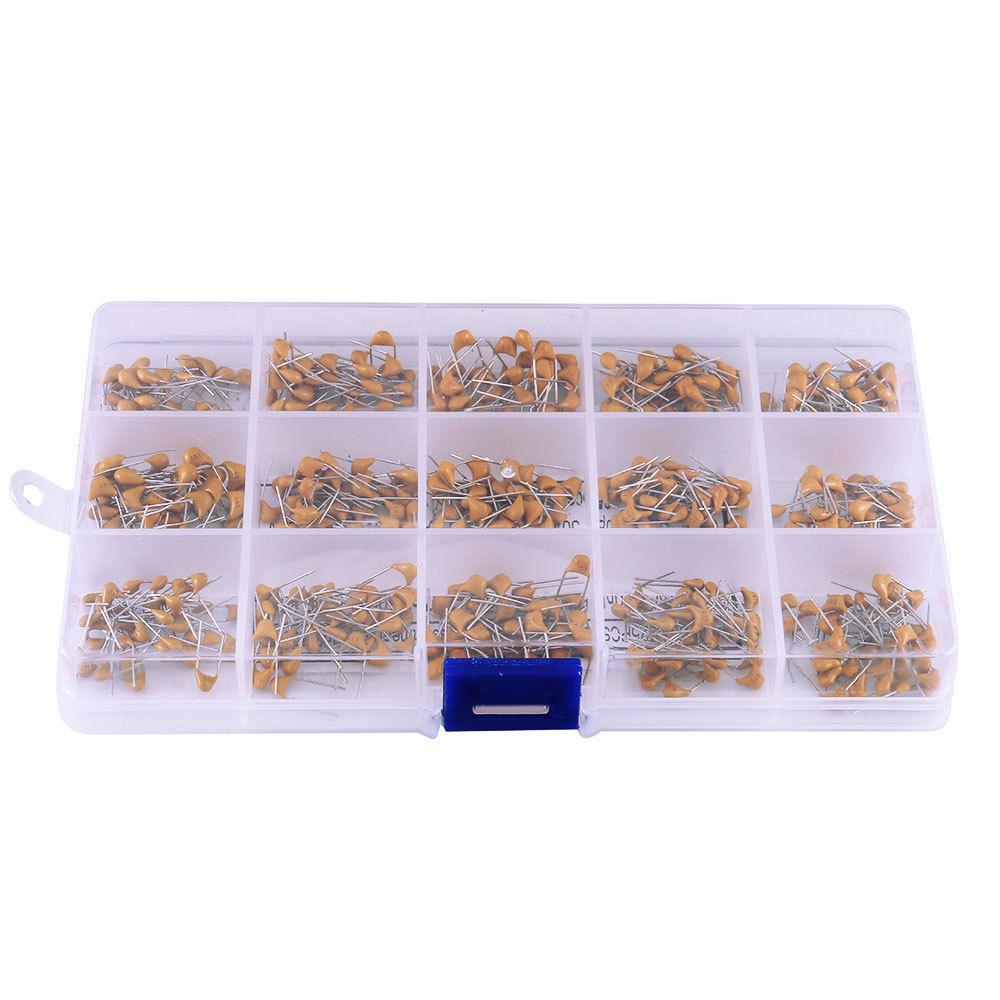 450Pcs Ceramic Capacitor Assortment Box Kit Range 15 Value 10pF-100nF(Box Packing) 450 pcs