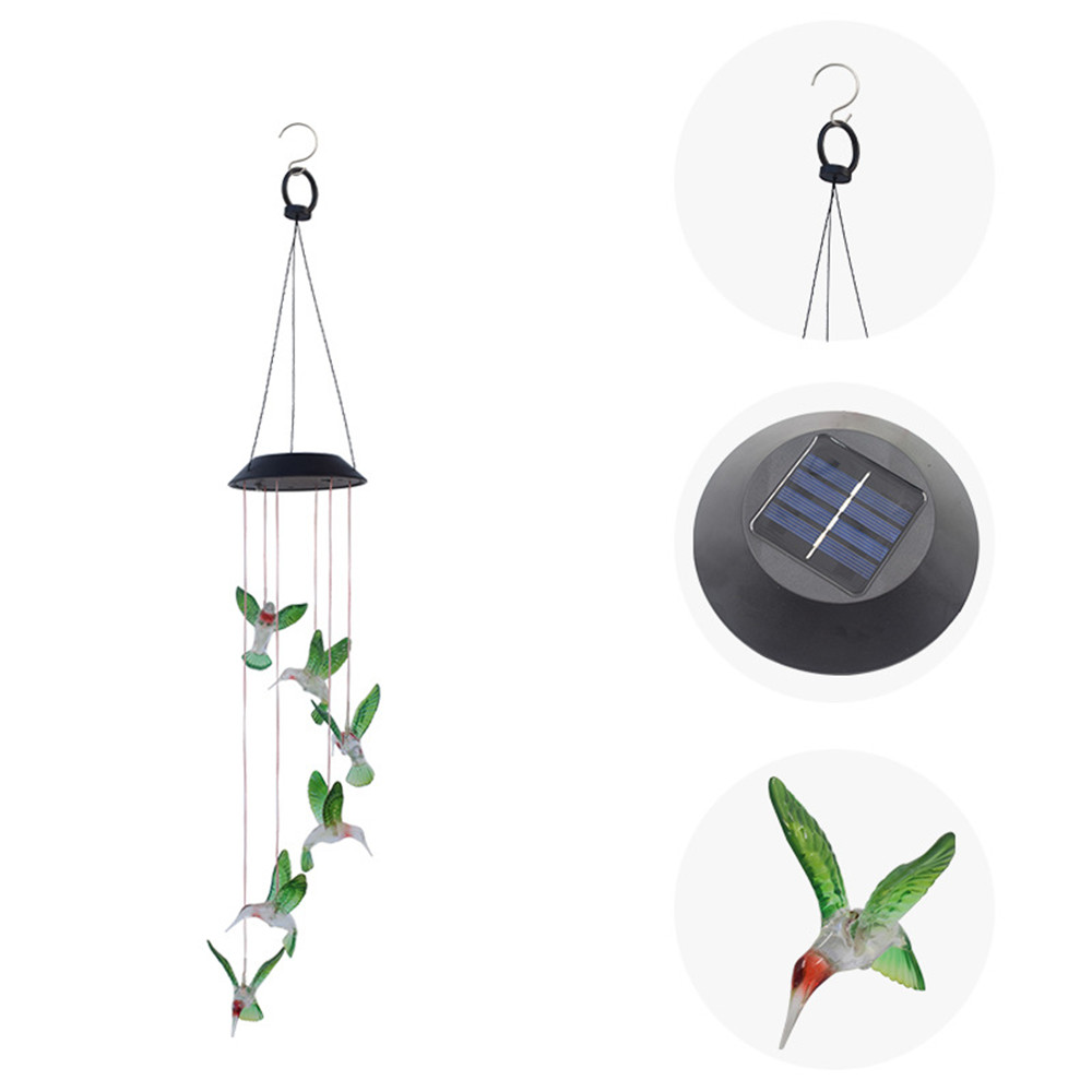 LED Color-Changing Solar Wind Chime Lamp