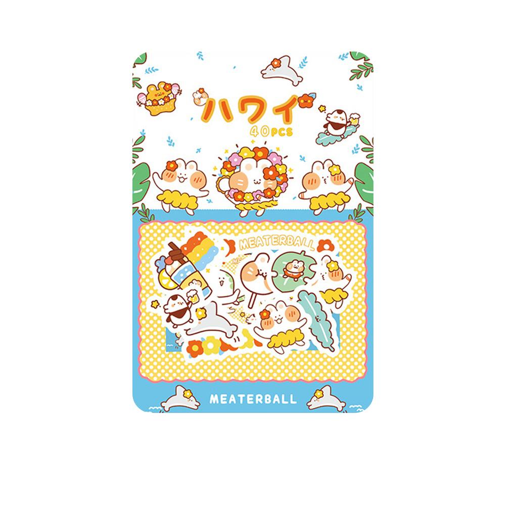Cute Label Diary Handmade Adhesive Paper Sticker Scrapbooking Stationery Decor Sticker 4#