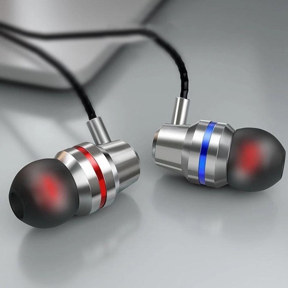 HIFI Super Bass Wired Headset 3.5mm In-Ear Earphone Stereo Earbuds  Silver