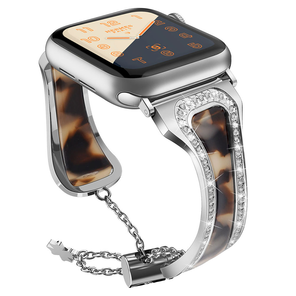 Metal Stainless Steel Resin Watch Strap for apple watch1/2/3/4 Generations
