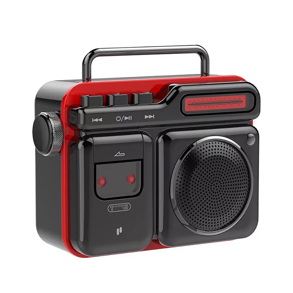 PURIDEA MOCA Portable Bluetooth Speaker Retro Radio-shaped Mini Stereo Loundspeaker black