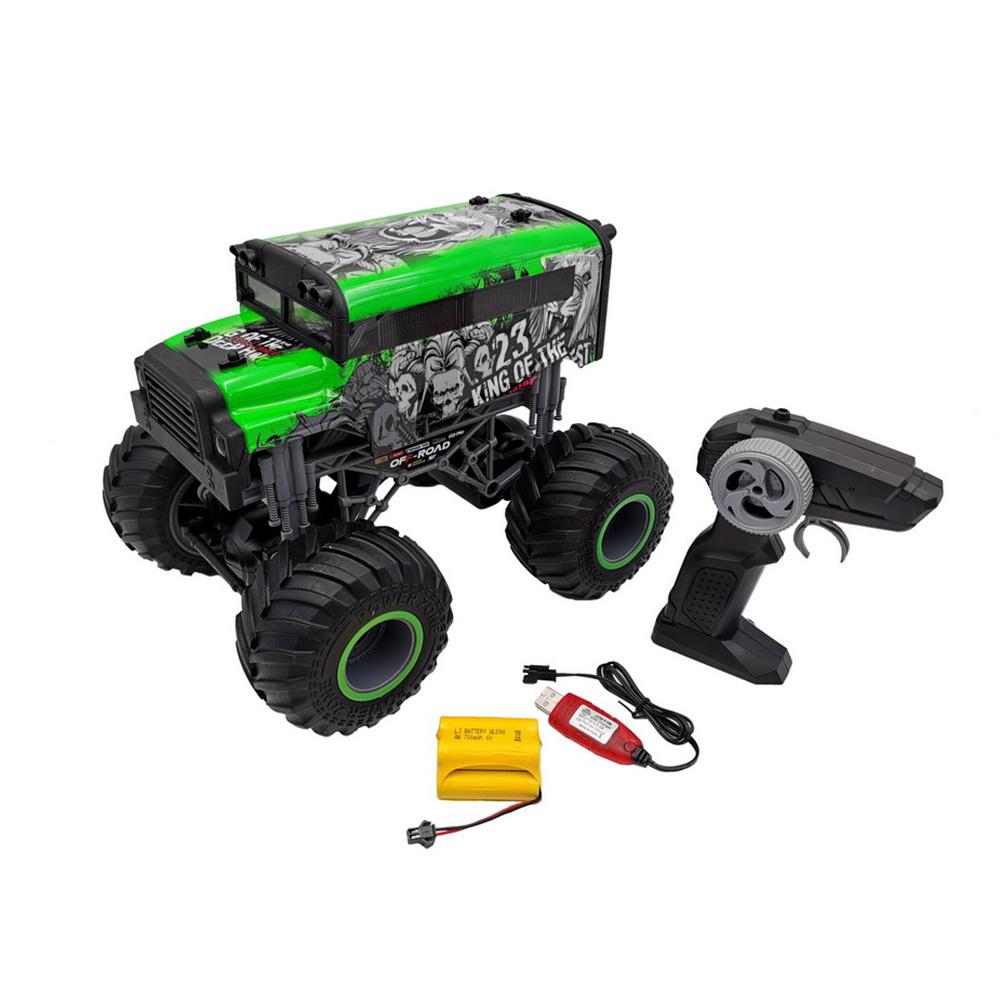 RC Car 1/16 Driving Car Double Motors Drive Bigfoot Car Remote Control Car Model Off-Road Vehicle Toy green