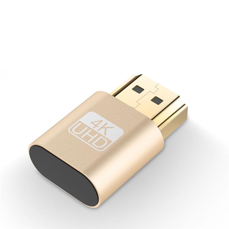 HDMI Virtual Display 4K HDMI DDC EDID Dummy Plug EDID Display Gold