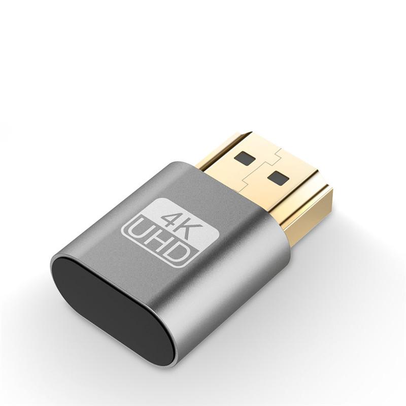 HDMI Virtual Display 4K HDMI DDC EDID Dummy Plug EDID Display gray