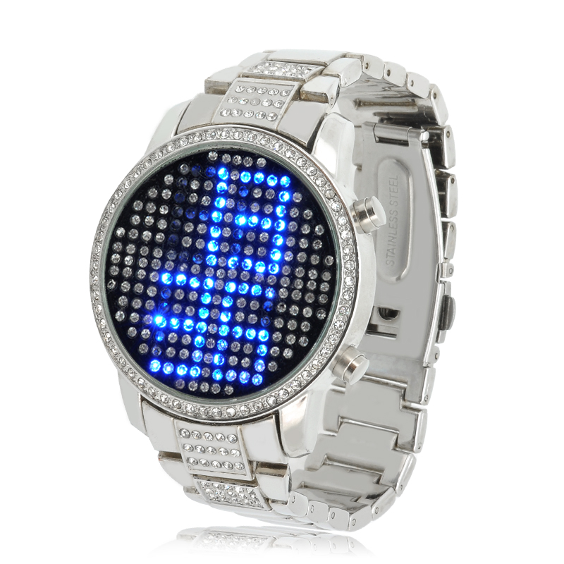Blue Crystal LED Watch - Sapphire