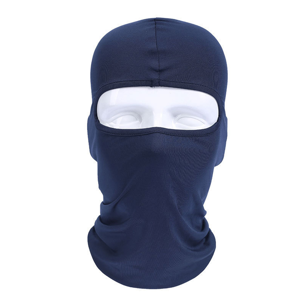 Lycra Fabrics Ski Face Mask Motorcycle Cycling Bike Skateboard Balaclava Dark blue_Average size