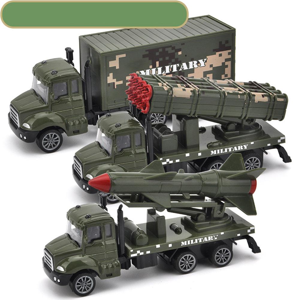 3pcs/set Simulate Sliding Alloy Car Model 1:64 Kids Toys Set Collection truck series