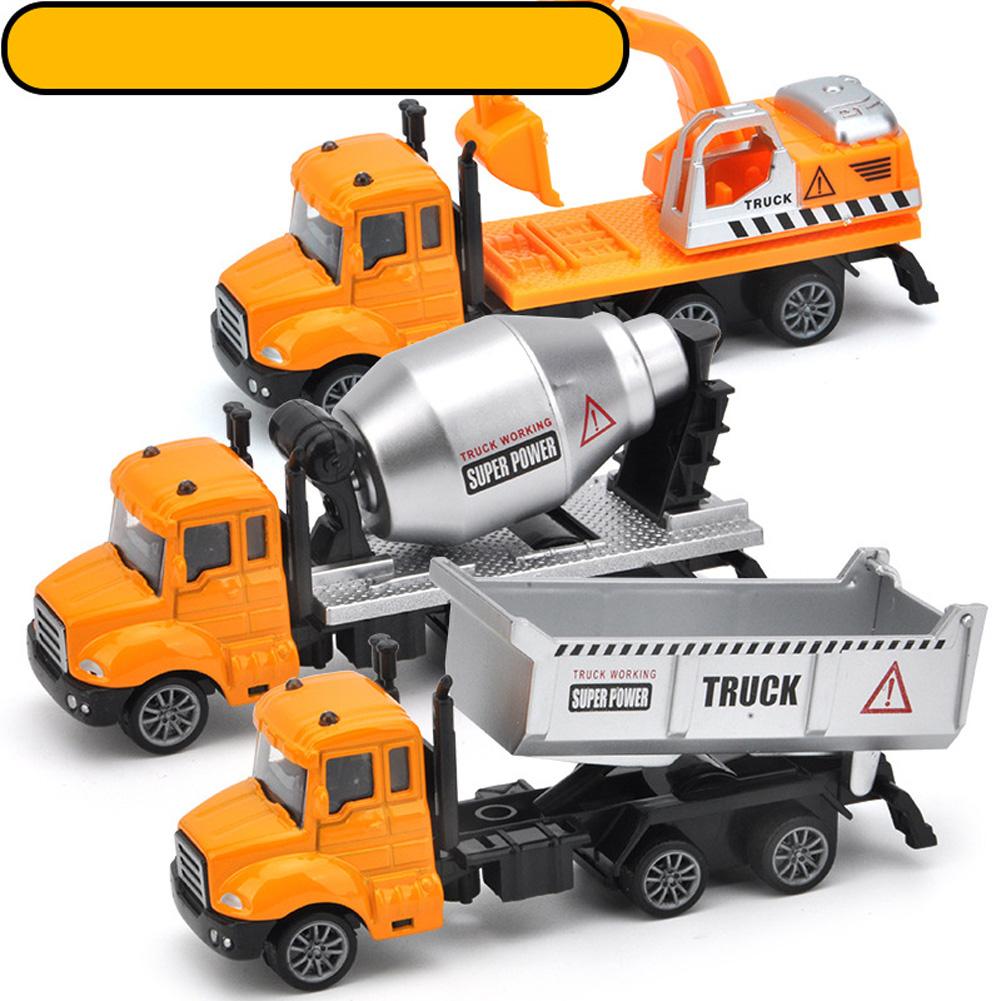 3pcs/set Simulate Sliding Alloy Car Model 1:64 Kids Toys Set Collection 3pcs engineering series