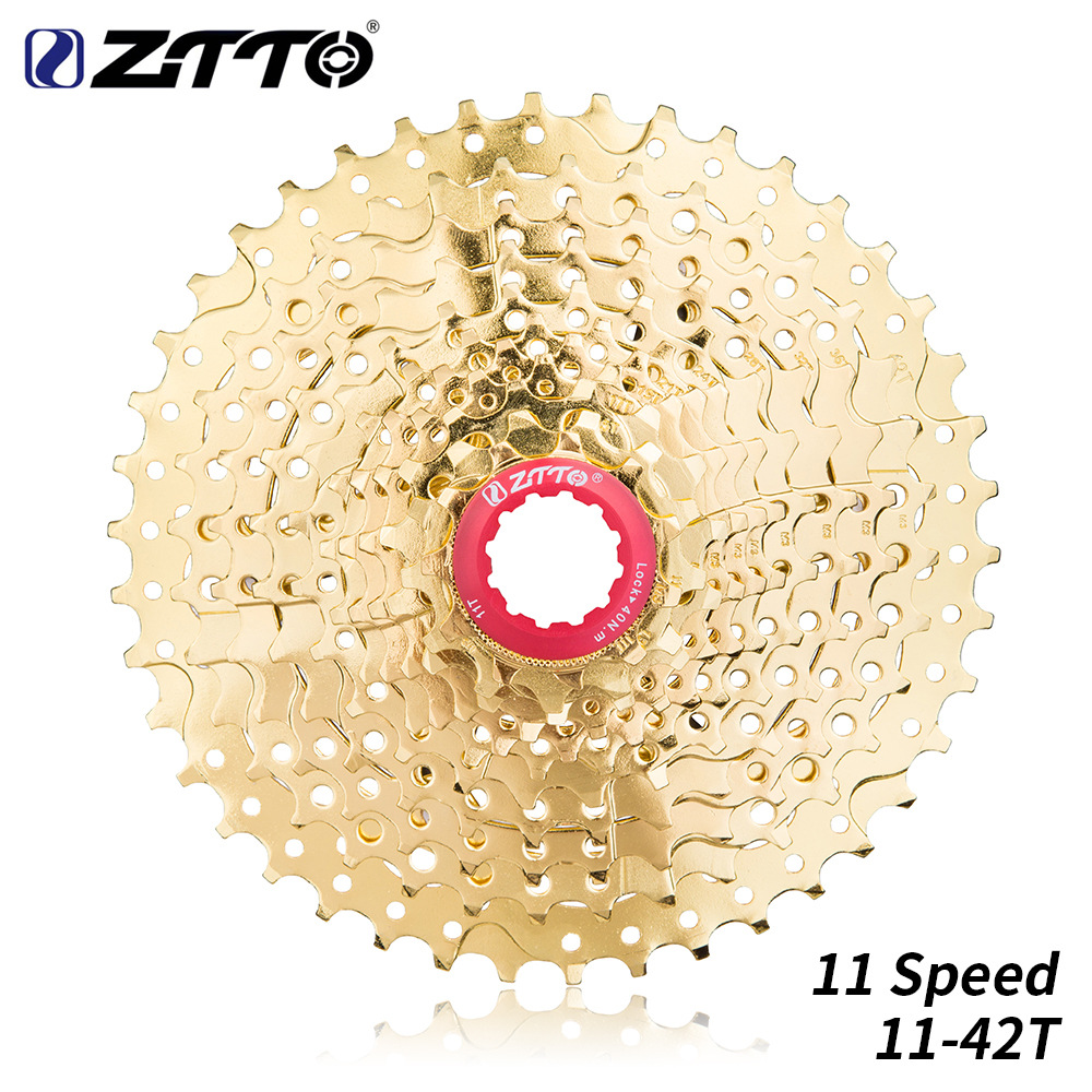 ZTTO 11 Speed 11-42T MTB Mountain Bike 11s Cassette Freewheel Bicycle Parts 11-speed 42T full gold