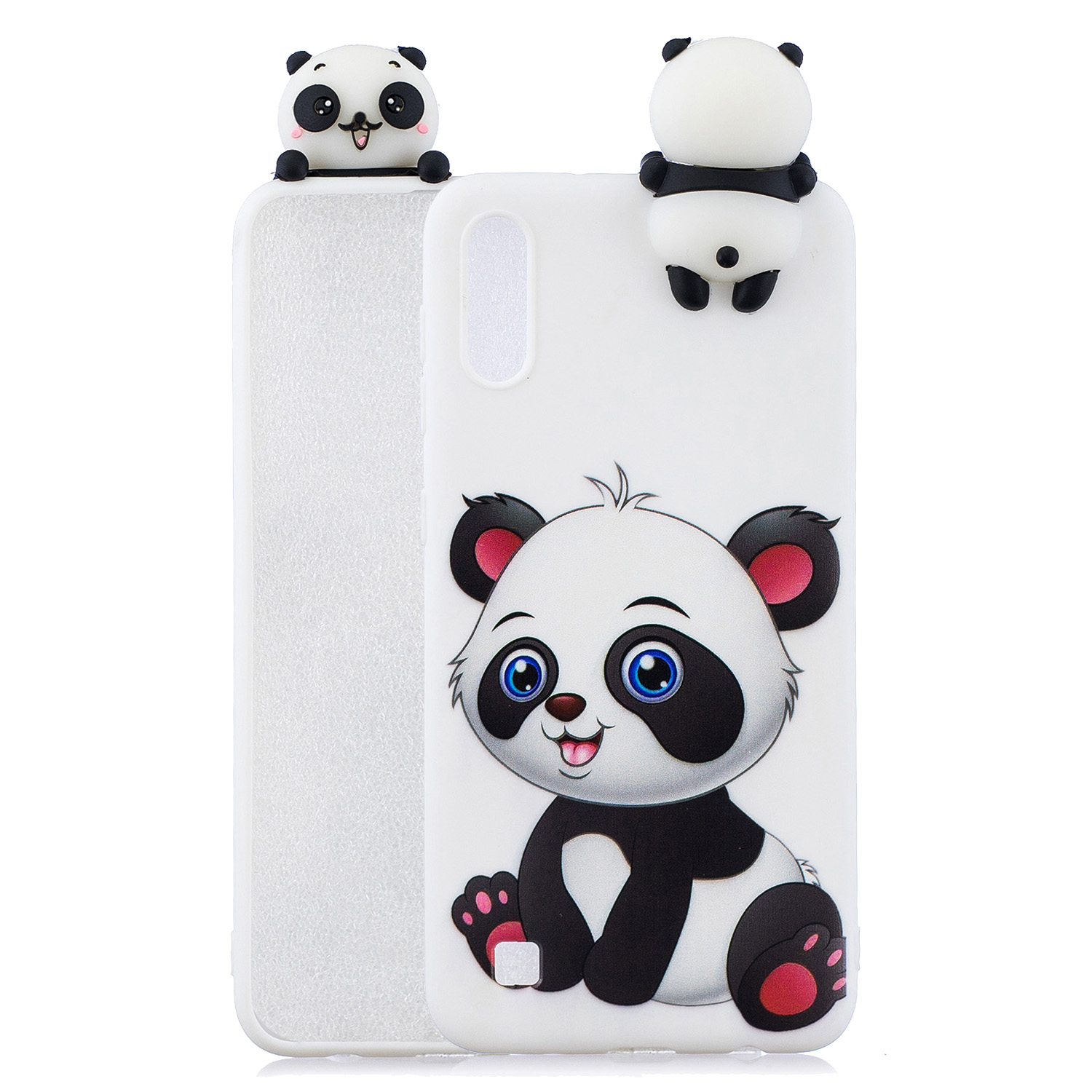 For Samsung A10 3D Cute Coloured Painted Animal TPU Anti-scratch Non-slip Protective Cover Back Case a panda
