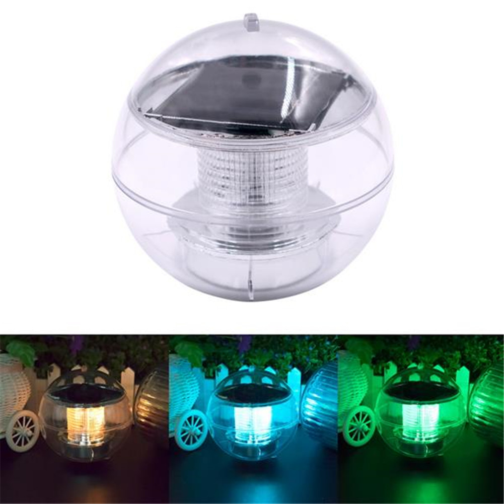 [US Direct] Solar Floating  Pool  Lights Waterproof Pond Light With Multi Color Changing Led color