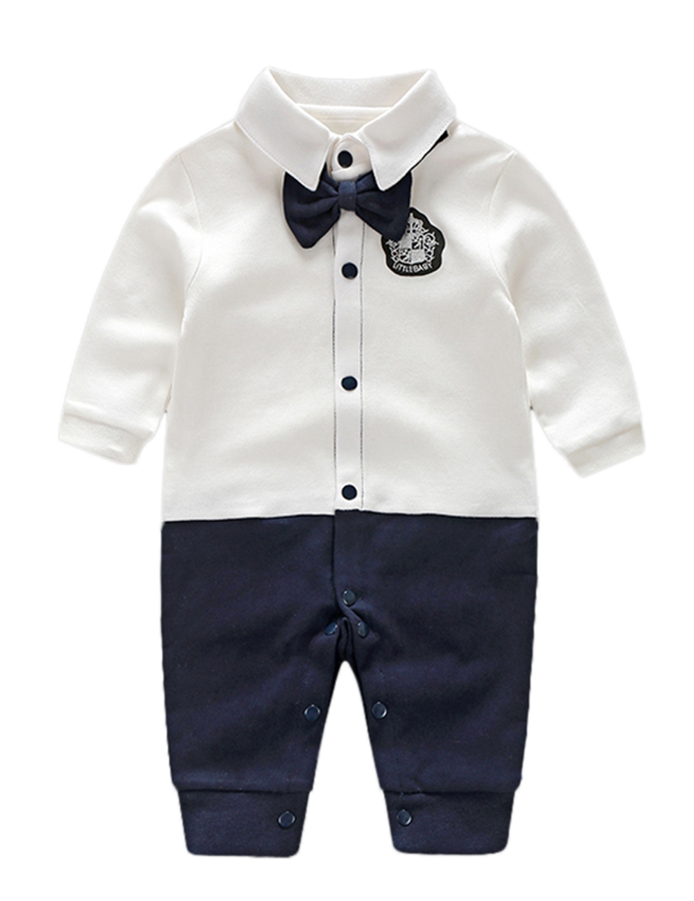 Fashion Gentleman Style Toddler Baby Rompers Soft Cotton Warm Breathable Jumpsuits Christmas Gift
