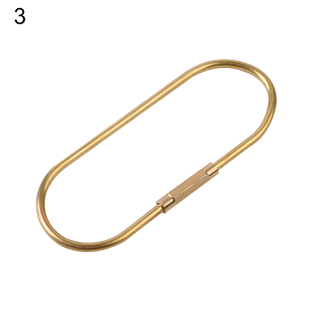 Nordic Style Brass Gold Key Hang Buckle Retro Pure Copper Car Key Ring Keychain Large, back type