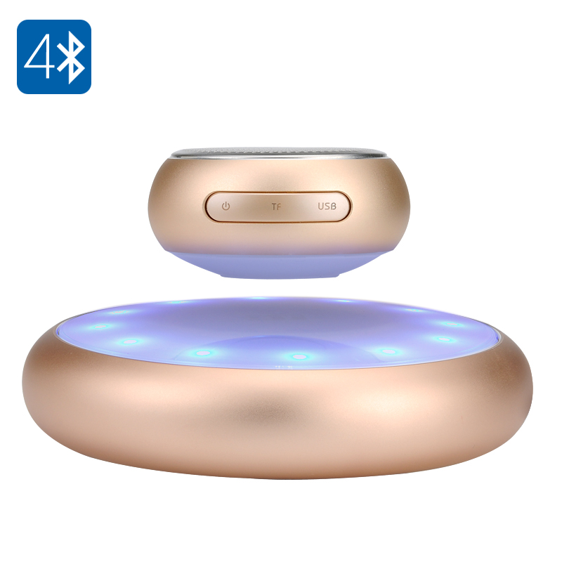 Levitating Bluetooth Speaker (Gold)