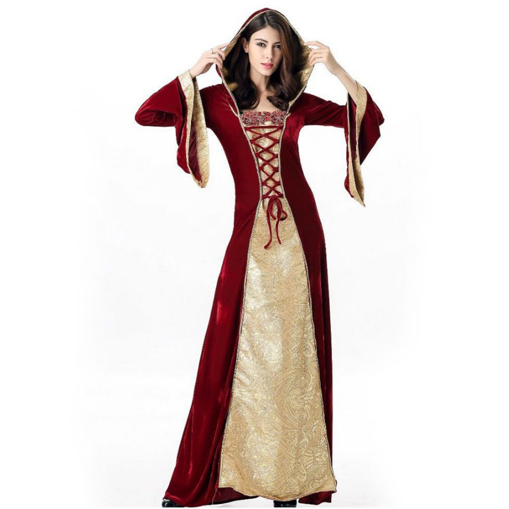 Halloween Carnival Court Costume Queen Dress Performance Show Costume Halloween Costumes for Women As shown_XL