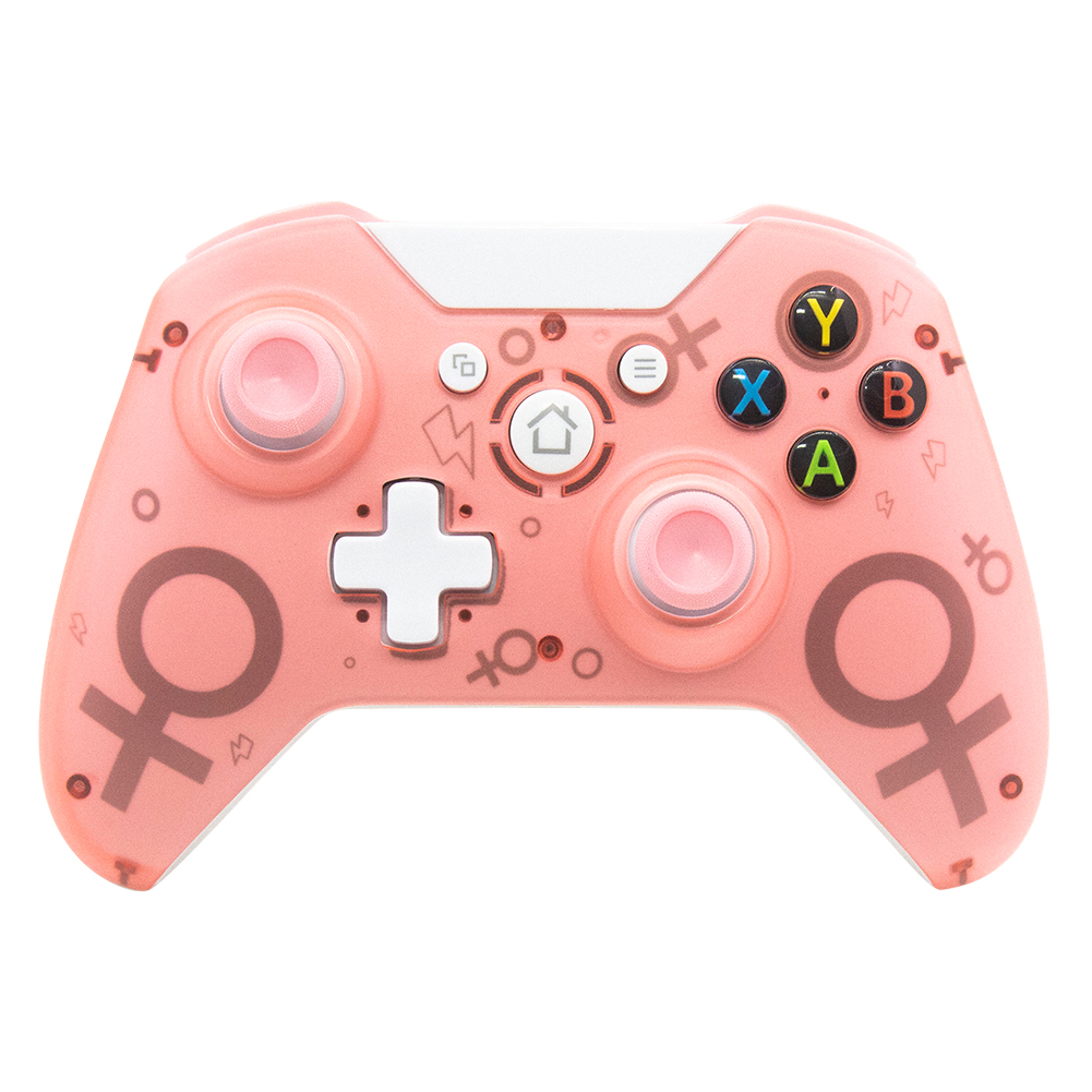 Wireless 2.4GHz Game Controller for Xbox One for PS3 PC Games Joystick Gamepad with Dual Motor Vibration Pink