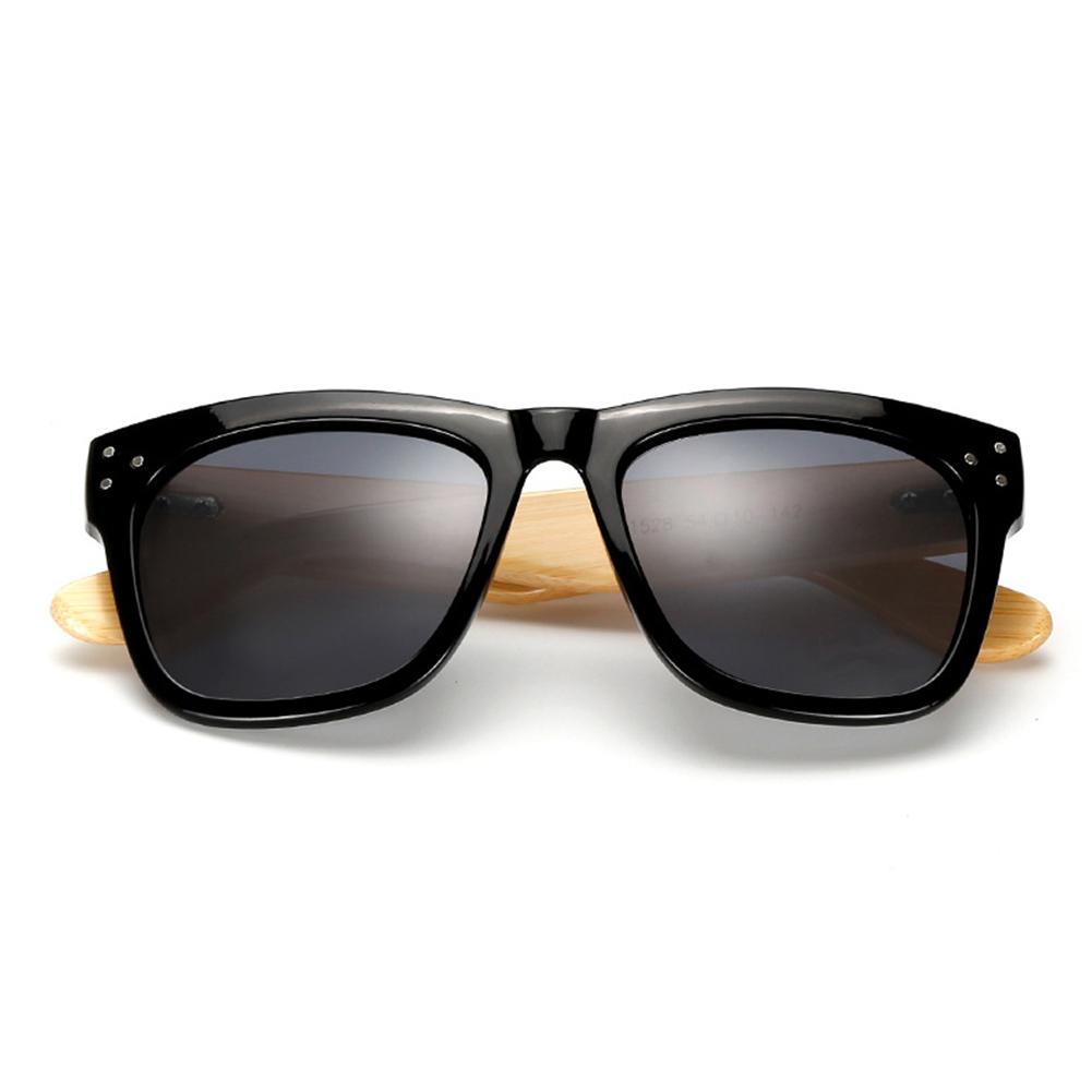 Vintage Lightweight Wooden Bamboo Leg Sunglasses