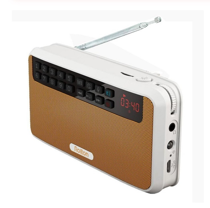 Rolton E500 Portable Stereo Bluetooth Speakers FM Radio Clear Bass Dual Track Speaker TF Card USB Music Player  Orange