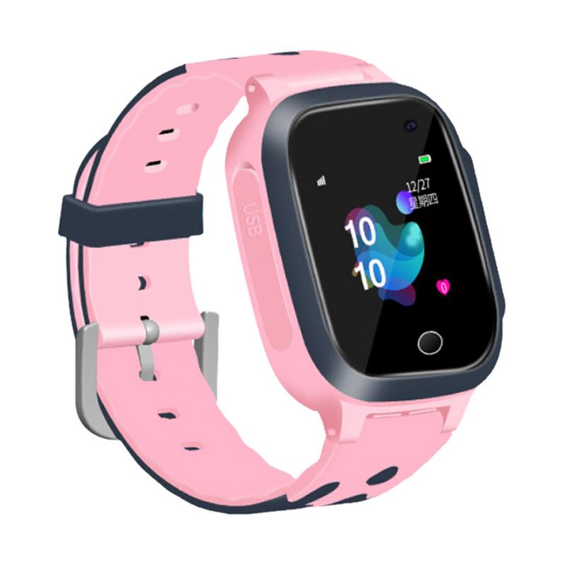 S16 1.44-inch Touch Screen SOS Waterproof Positioning Super-long Standby Smart Children's Telephone Watch Pink