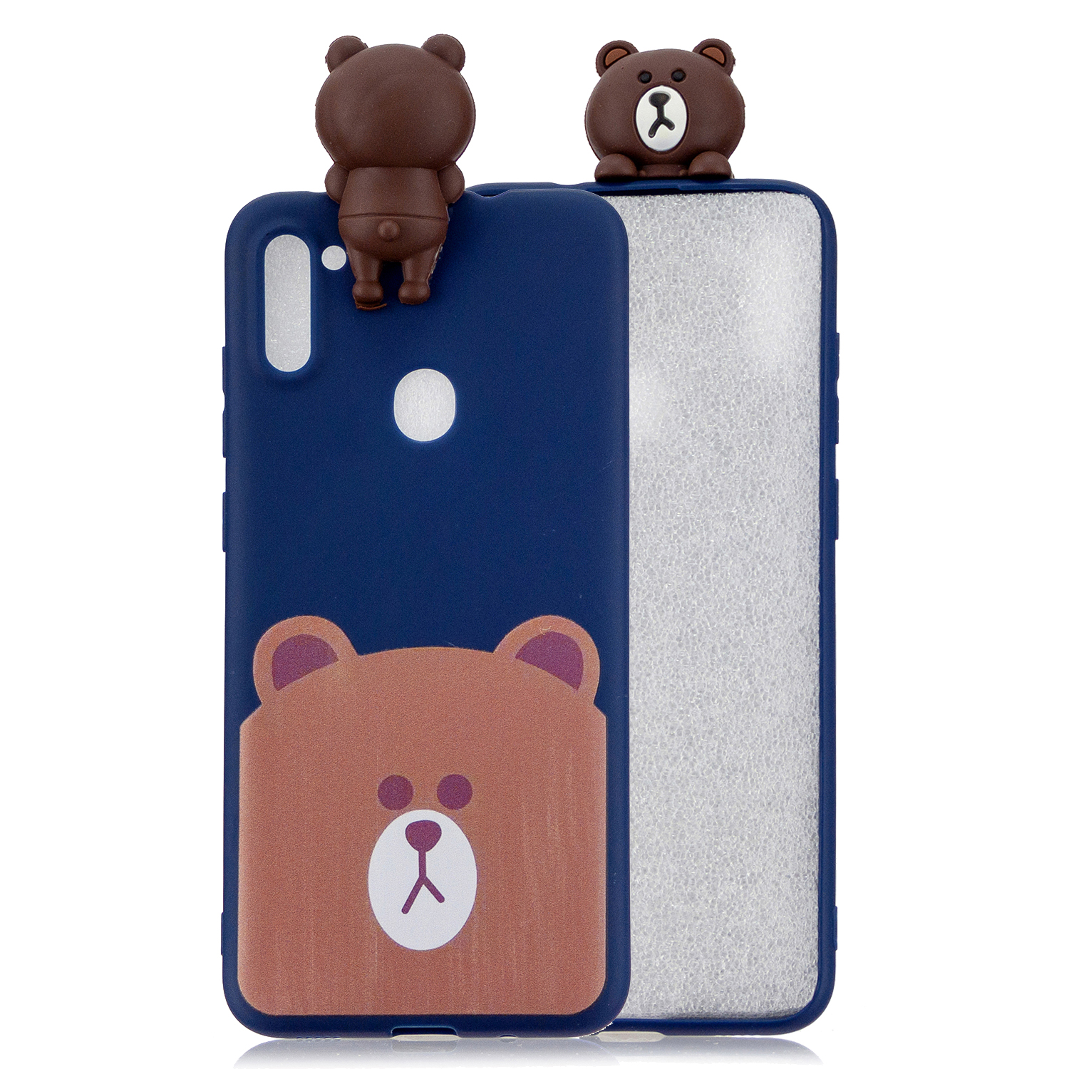 For Samsung A11 Soft TPU Back Cover 3D Cartoon Painting Mobile Phone Case Shell Little bear