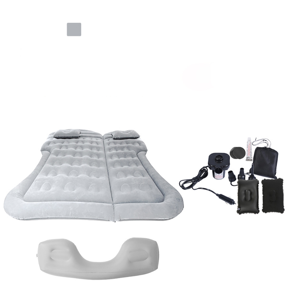 Car Inflatable Mattress Portable Inflatable Bed Air Mattress Car Inflatable Bed Air Mattress Camping Mat Gray + foot pier
