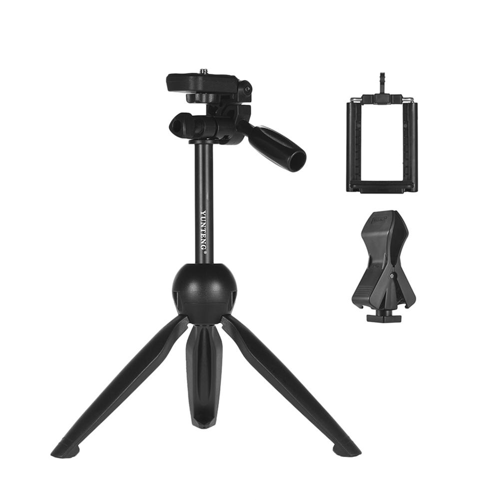 Mobile Phone Holder Tripod Yunteng 2280 Microphone Desktop Tripod Live Broadcasting Camera Tripod Black