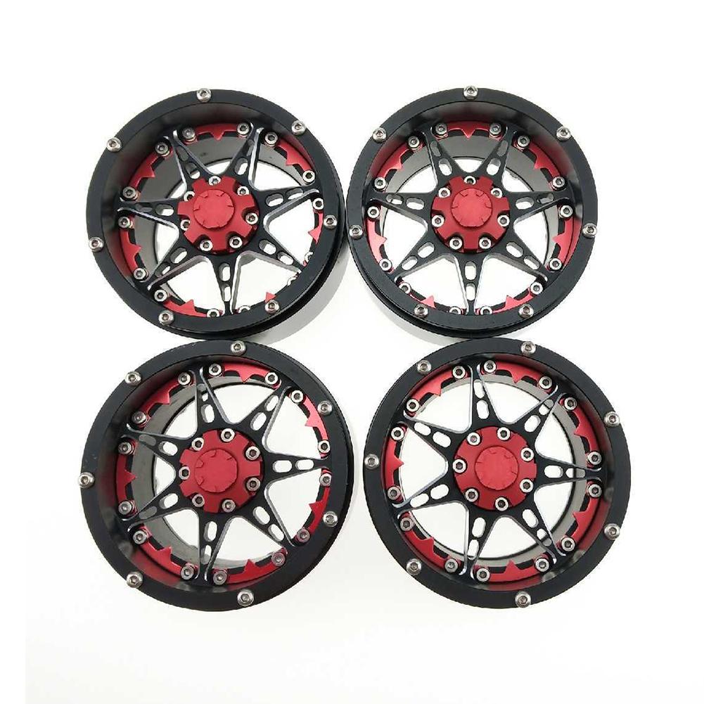 4pcs/set 2.2inch Simulation Crawler Metal Wheel Hub Climbing Car Widening Alloy Wheels Hub