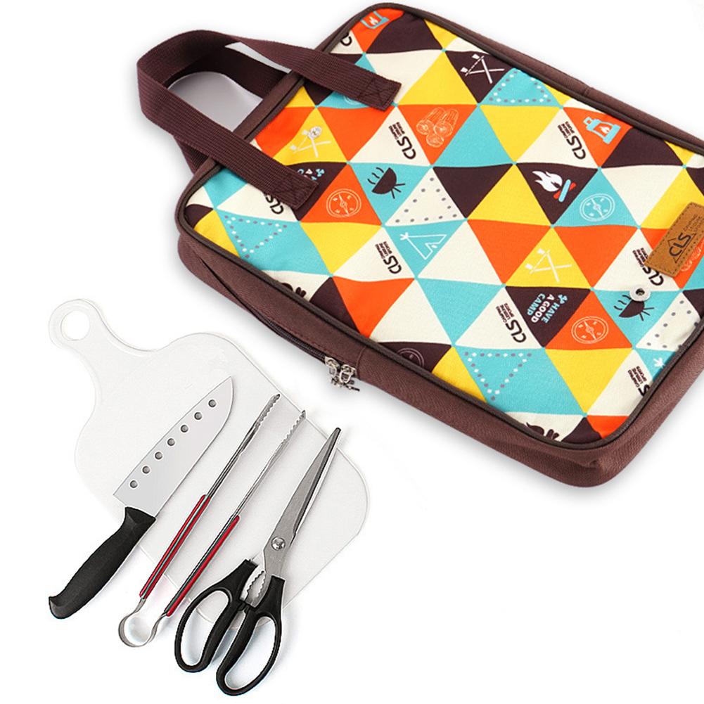 5-piece set Camping Kitchen Utensil Set Camp Cookware Utensils Organizer Travel Kit Color 5-piece set
