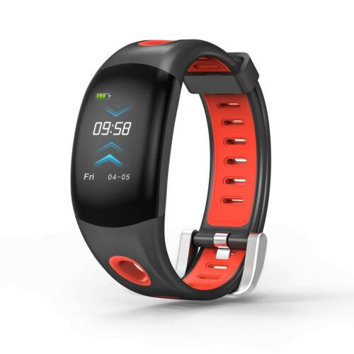 DM11 Waterproof Smart Bracelet Watch Rechargeable Long Lasting G-sensor Sports Bluetooth Fitness Tracker Black red