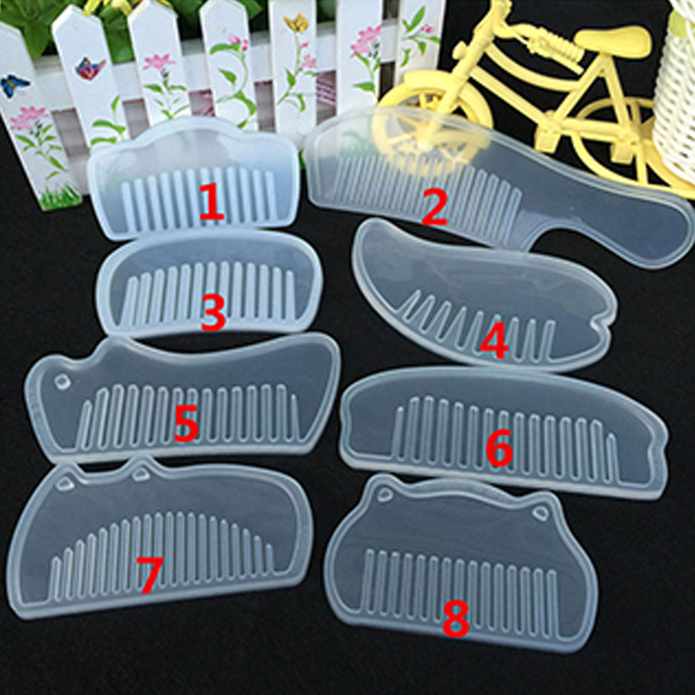 6pcs/8pcs Uv Resin Silicone Comb  Mold Epoxy Resin Molds For Diy Jewelry Making Tools 8-piece set (1#-8#)
