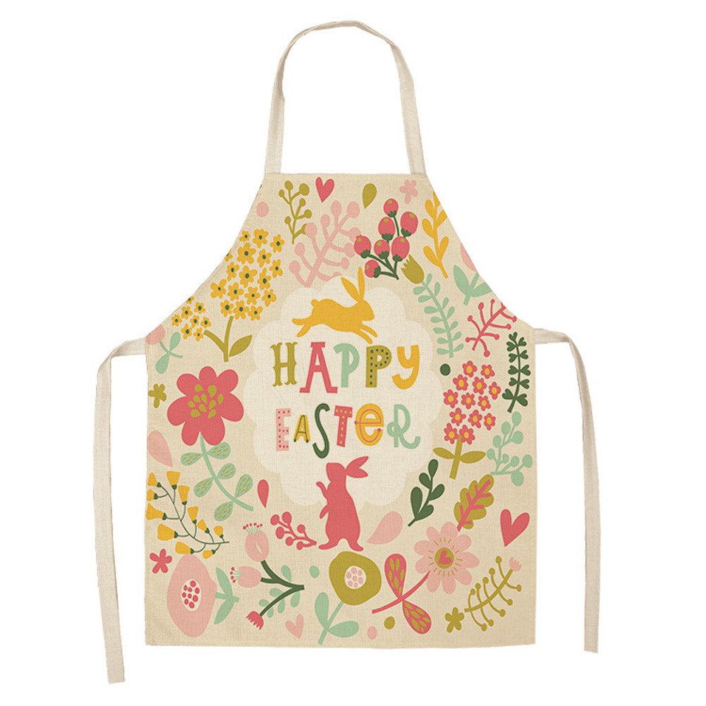 1Pc Lovely Cartoon Rabbit Printed Kitchen Aprons for Women Kids Cooking Cleaning Tool 68x55cm_WQL0034-6