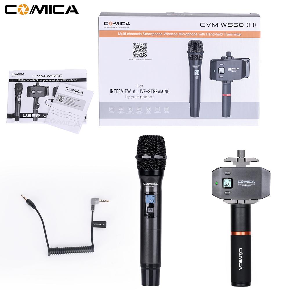 CVM-WS50H Smartphone Wireless Microphone + Hand-held Transmitter black