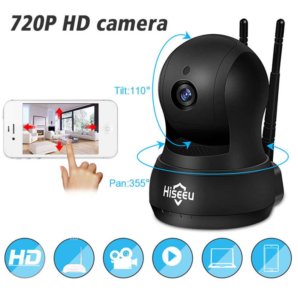 UK IP Camera Wi-Fi Wireless Network Camera HD TF Card Record Home Security CCTV Camera Baby Monitor