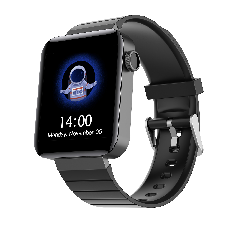 M5 1.54 Inch Smart Bracelet Heart Rate Blood Pressure 180mAh IP67 Waterproof 240 * 240 Wristwatch black