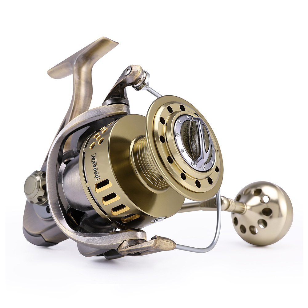 Metal Anti-sea Fishing Reel 40KG Brake Fore Boat Fishing Slow Rock Spining Reel 6000