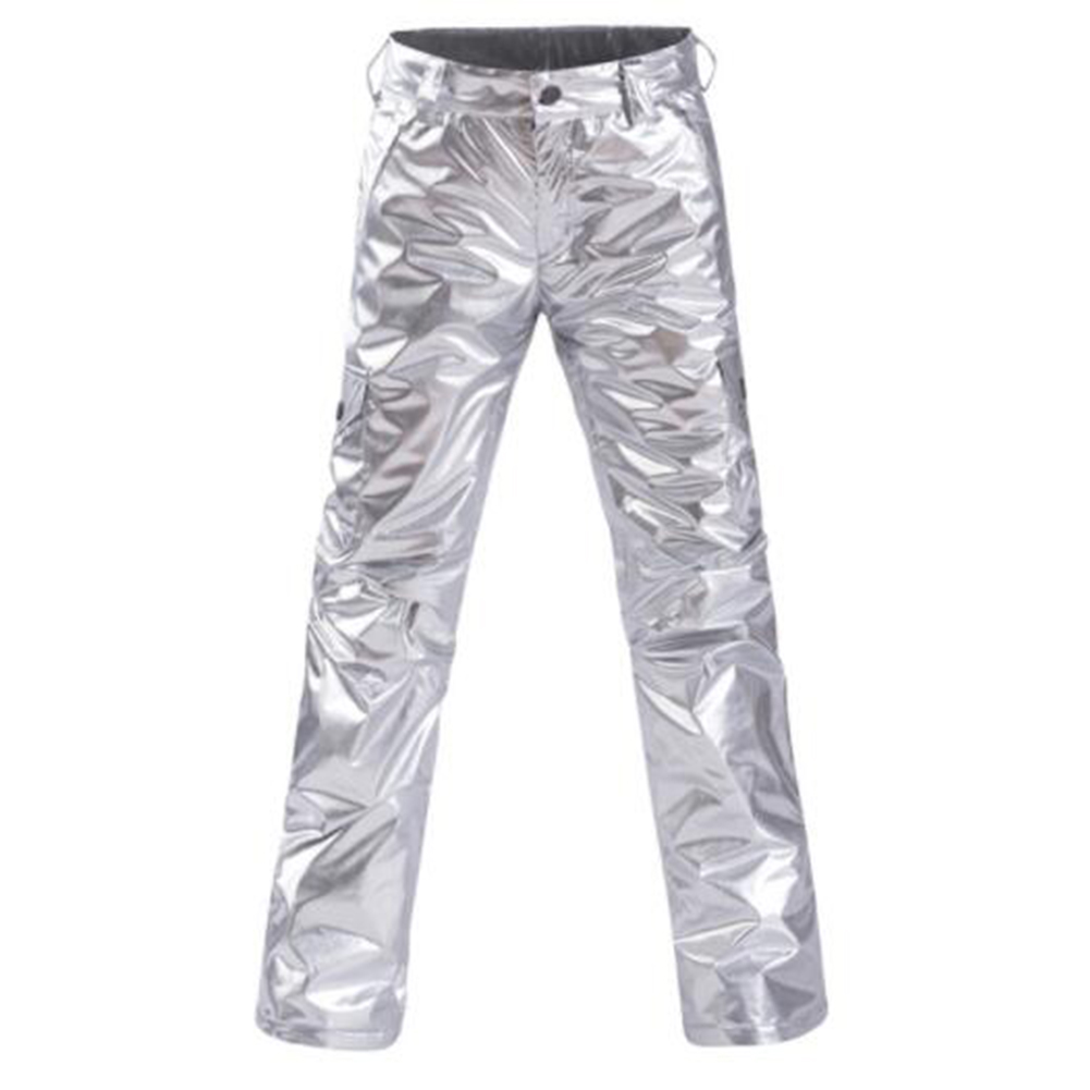 Women Thickening Waterproof And Windproof Warm Skiing Hiking Pants Trousers Silver_XL