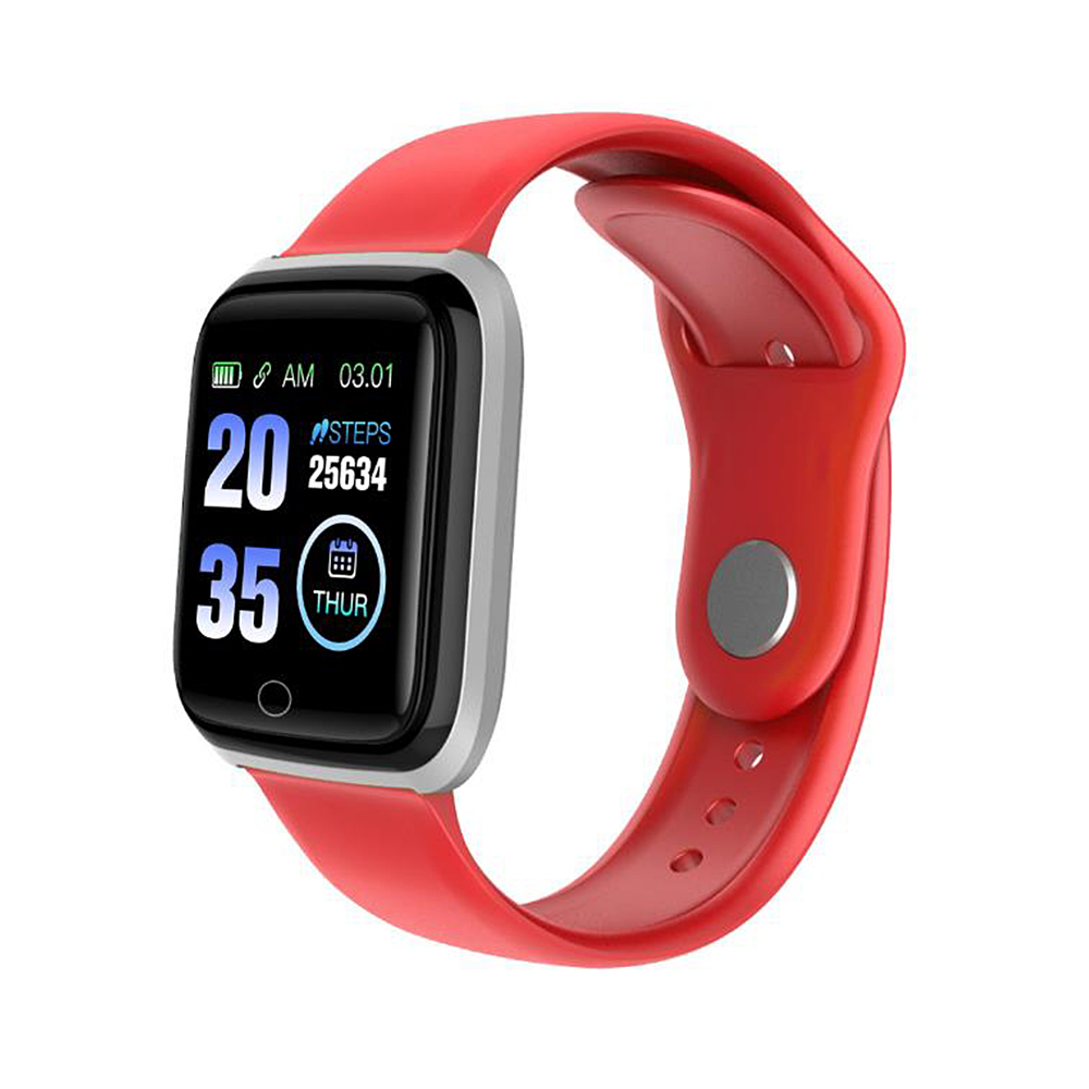 M6 Smart Band Watch Colorful Screen Fitness Tracker Waterproof Sport Passometer Bluetooth Wristband  Red