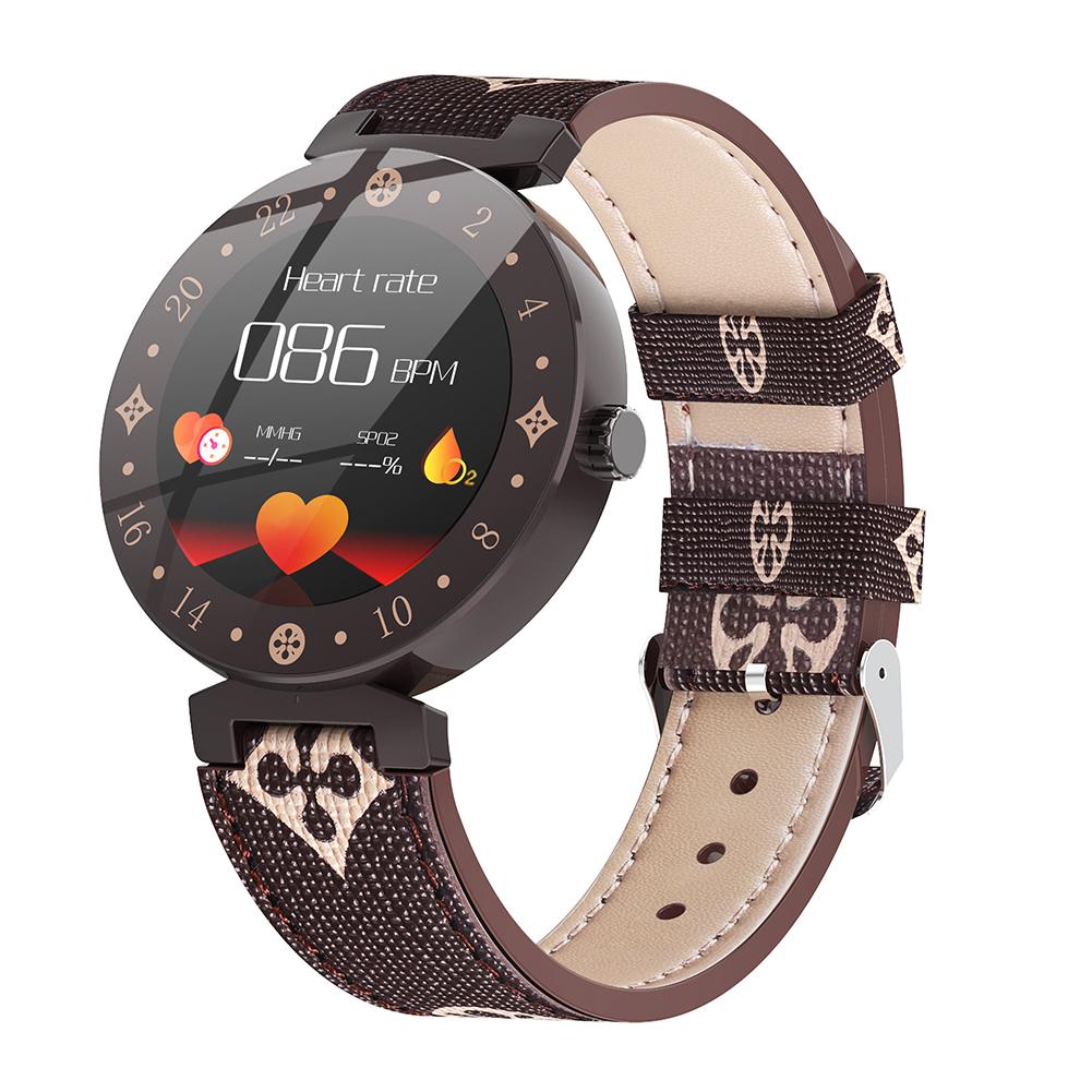 Fitness Tracker Blood Pressure Waterproof Smart Band Heart Rate Sleep Monitor Smart Bracelet Women Watch Fashion brown