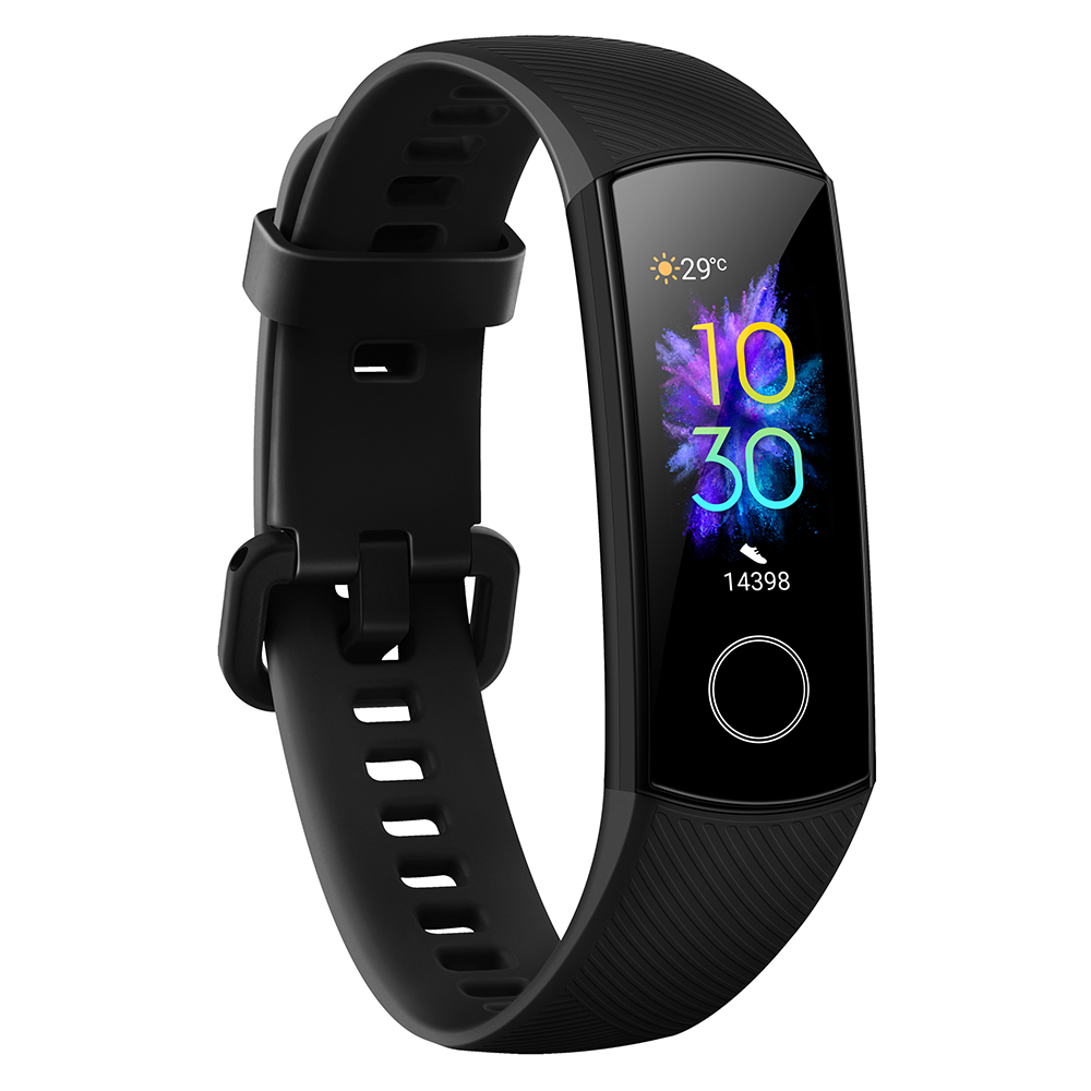 Original HUAWEI Honor Band 5 Smart Band Global Version Blood Oxygen Smartwatch AMOLED Huawei Smart Band Heart Rate Fitness Sleep Tracker black