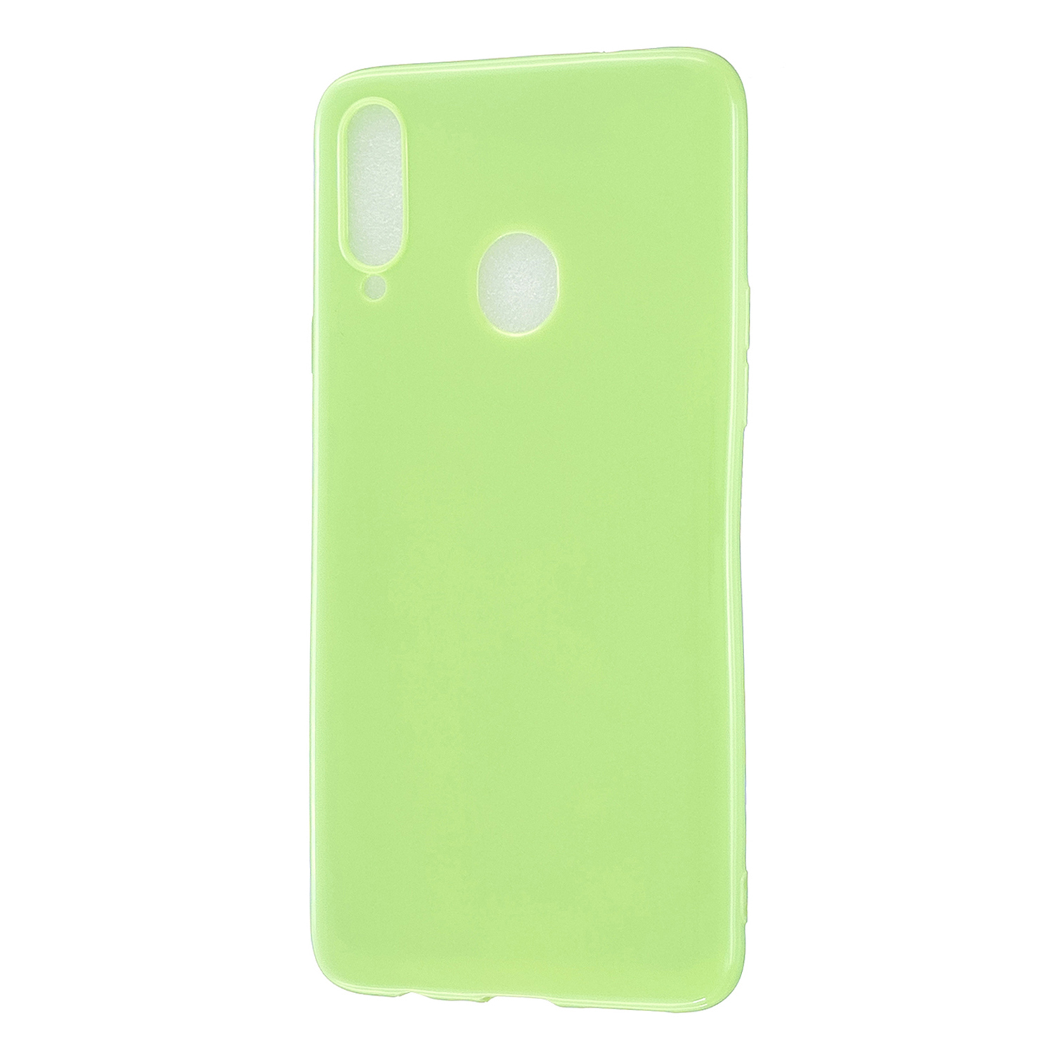 For Samsung A10S/A20S Cellphone Cover Soft TPU Phone Case Simple Profile Full Body Protection Anti-scratch Shell Fluorescent green