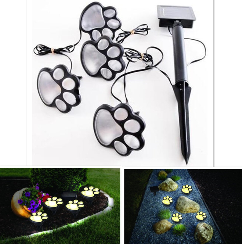 Unique Funny Bear Paw Solar Power LED