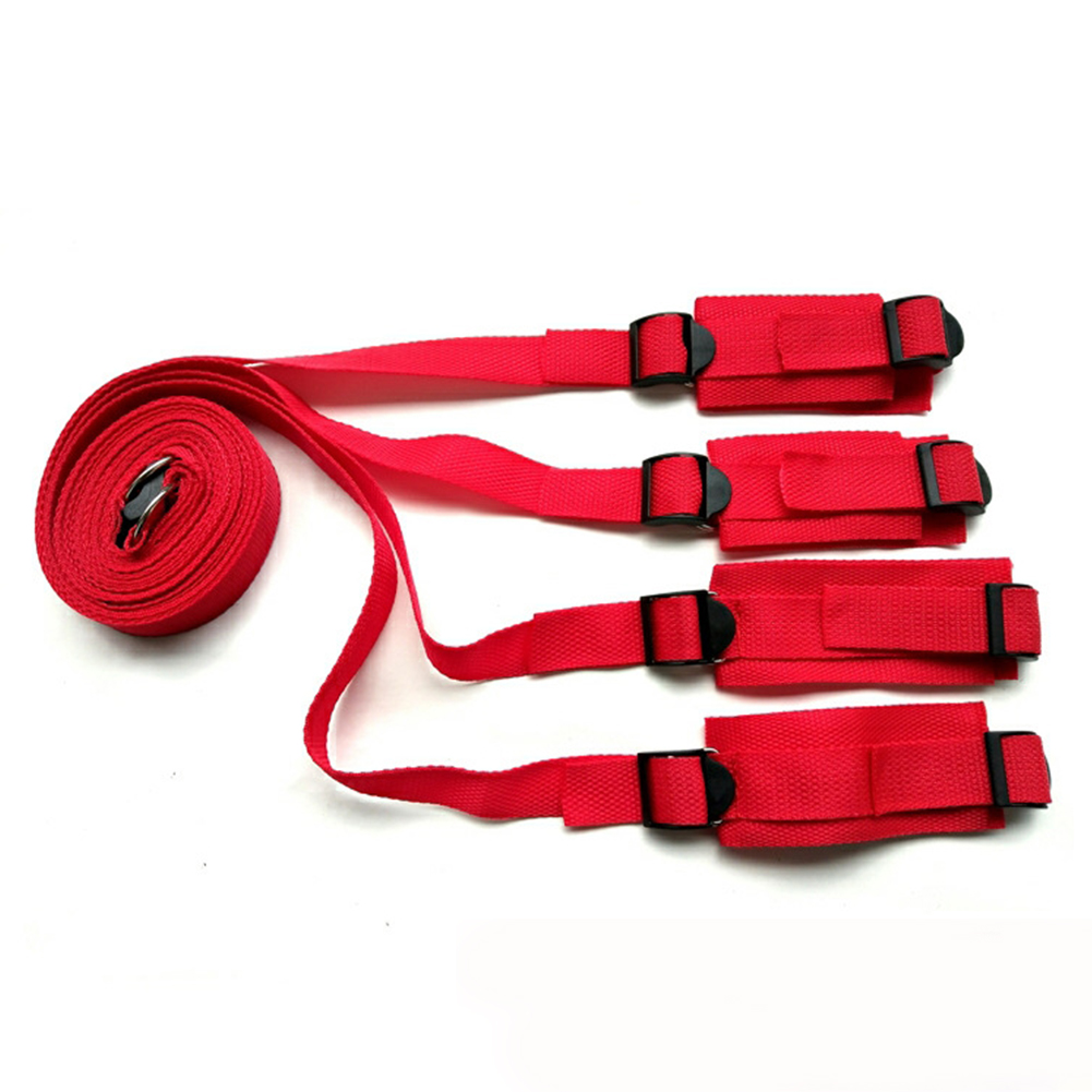 Classic Couples SM Role Play Beginner Toy Bondage Restraints Binding Band red