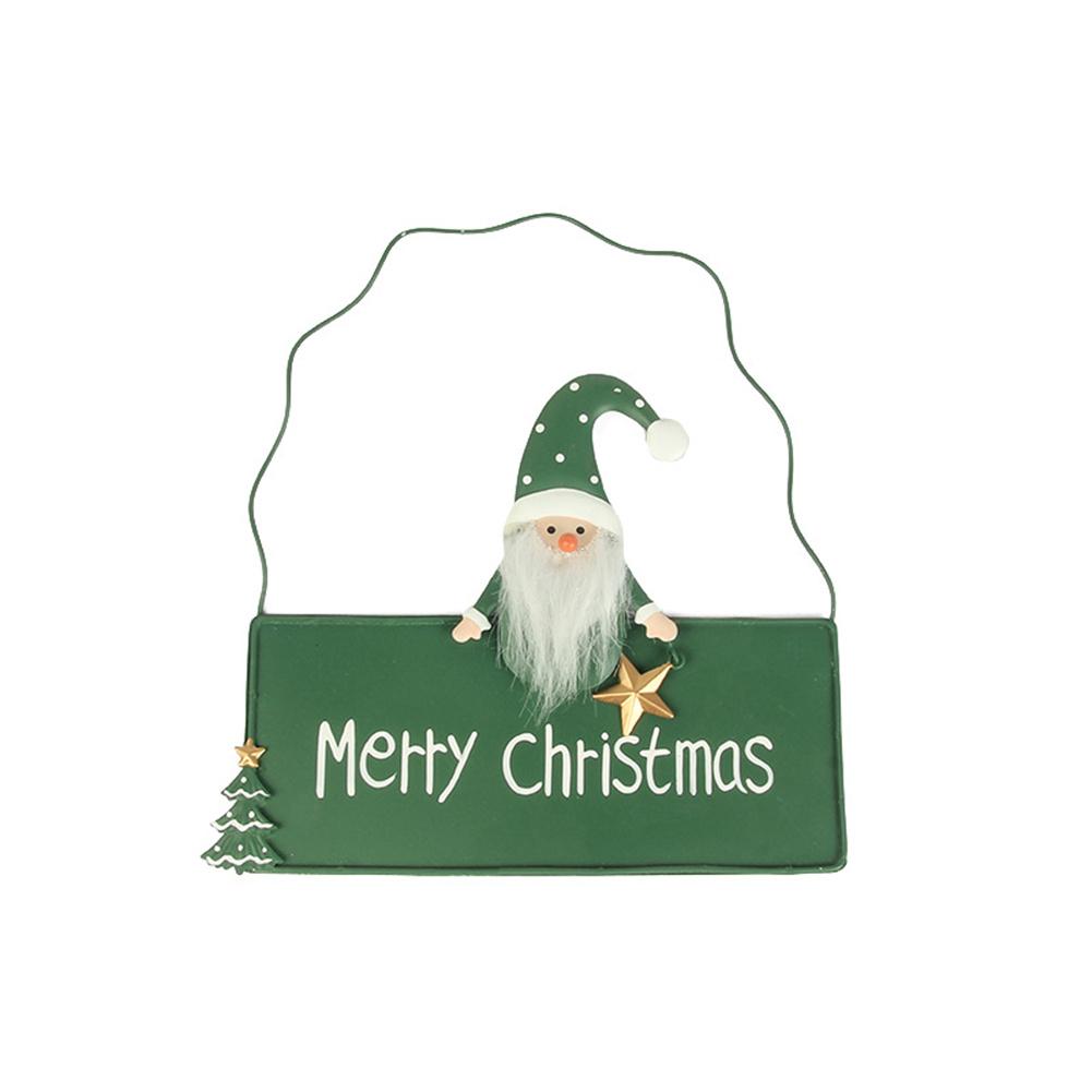 Door  Pendant Christmas Drawf Door Hanger Decorative Sign Ornaments Green