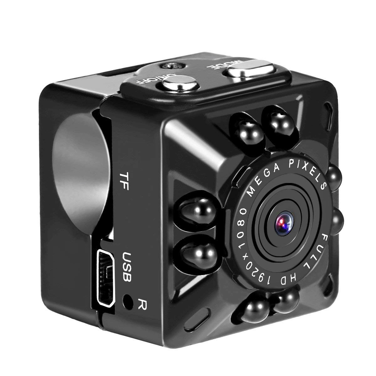 [EU Direct] Security Camera Full HD 1080P Motion Detection Night Vision Recorder  black