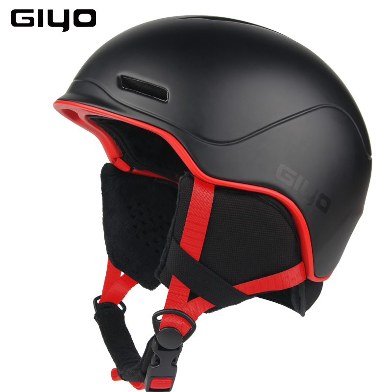 GIYO Safety Winter Outdoor Sports Warm Snowboard Ski Helmets Light Integrally-molded Skate Helmet black_One size