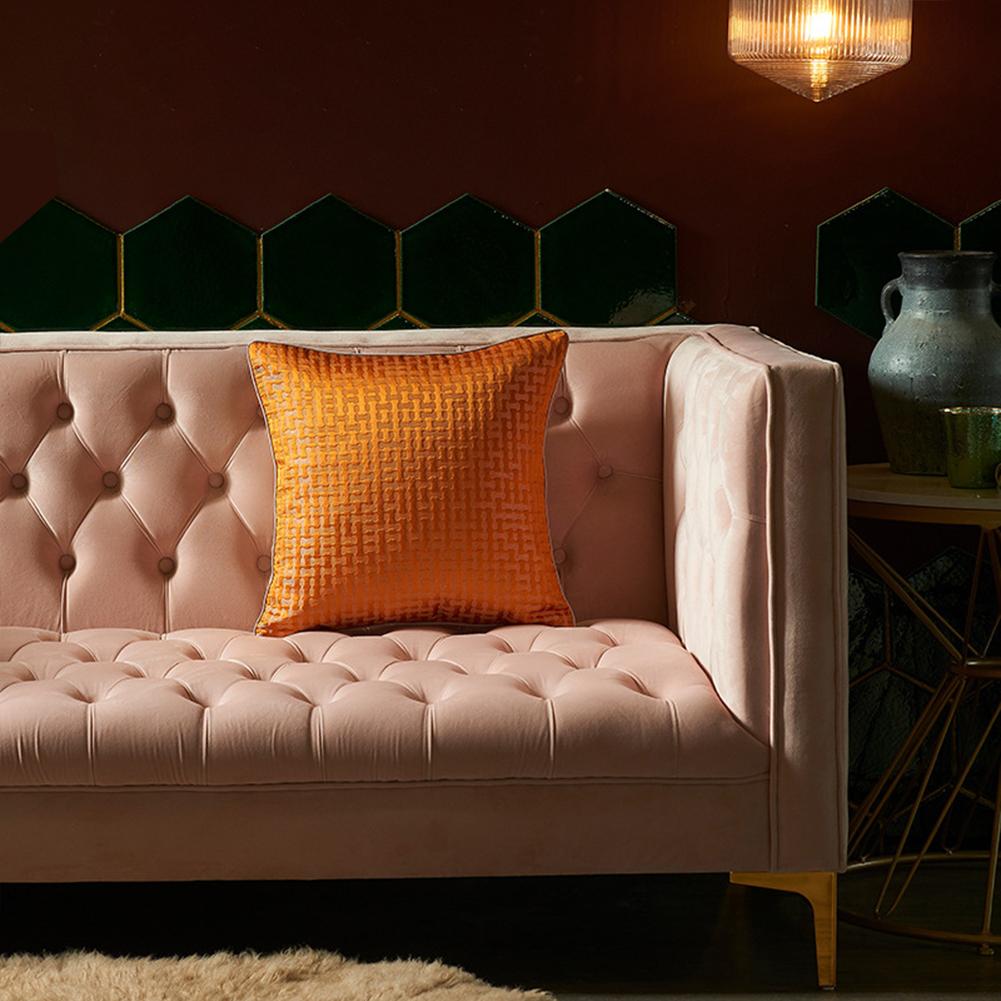 Artificial Silk  Pillowcase  45*45cm High-precision Pillow  Cover For Living Room 5