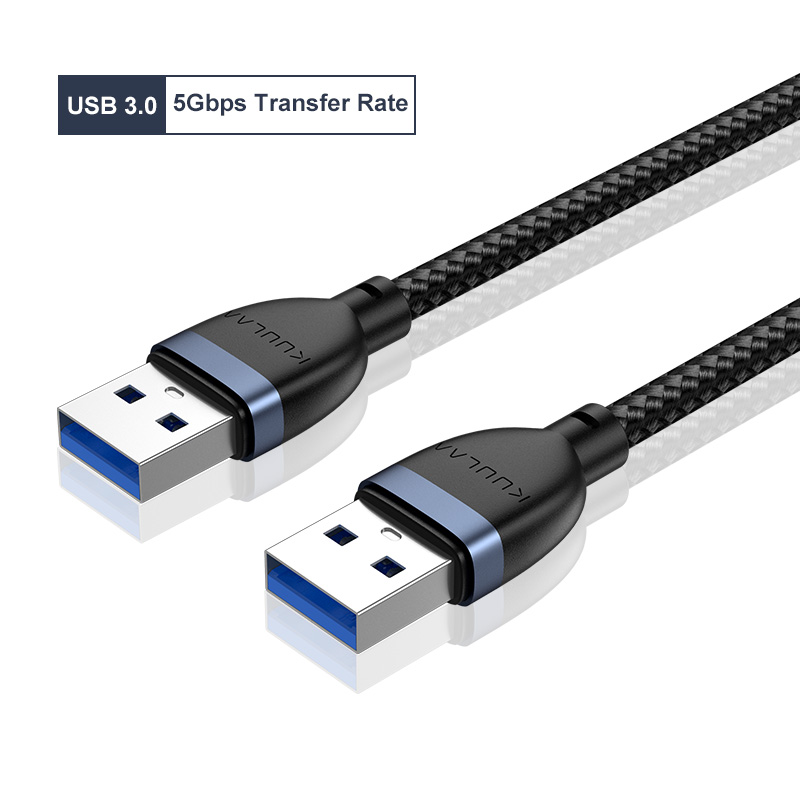 Universal Usb3.0 Mobile Hard Disk Copy Line Double Usb Transfer Data Line Cable 1 meter